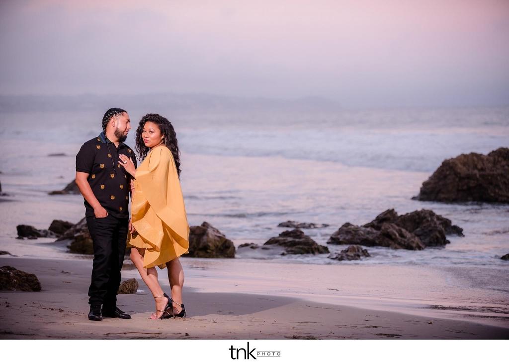 Malibu Beach Engagement Photos
