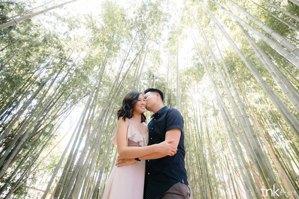los angeles county arboretum engagement session
